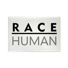 Race Human Rectangle Magnet