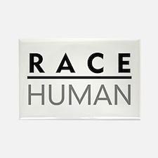 Race Human Rectangle Magnet
