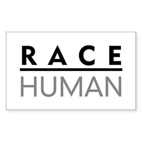Race Human Rectangle Sticker