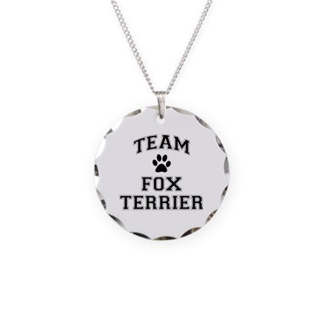Team Fox Terrier Necklace Circle Charm
