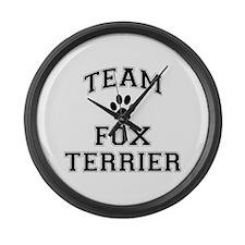 Team Fox Terrier Large Wall Clock