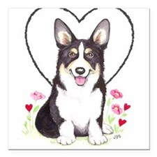 "Pembroke Welsh Corgi Square Car Magnet 3"" x 3"""