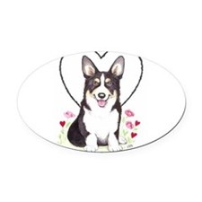 Pembroke Welsh Corgi Oval Car Magnet