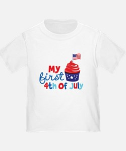 Cupcake First 4th of July T