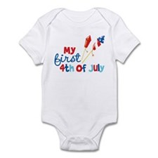 Firecrackers My First 4th of July Infant Bodysuit