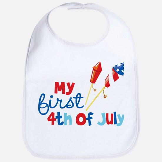 Firecrackers My First 4th of July Bib