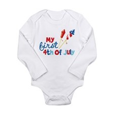 Firecrackers My First 4th of July Long Sleeve Infa