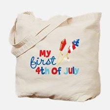 Firecrackers My First 4th of July Tote Bag