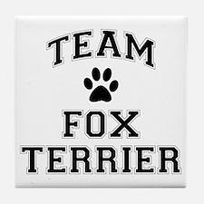 Team Fox Terrier Tile Coaster