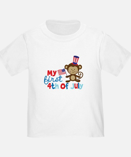 Monkey My First 4th of July T