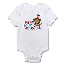 Monkey My First 4th of July Onesie