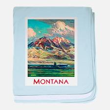 Montana Travel Poster 4 baby blanket