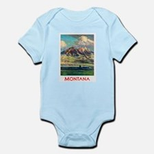 Montana Travel Poster 4 Infant Bodysuit