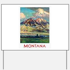 Montana Travel Poster 4 Yard Sign