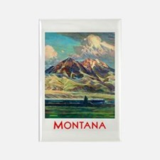 Montana Travel Poster 4 Rectangle Magnet
