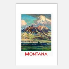 Montana Travel Poster 4 Postcards (Package of 8)