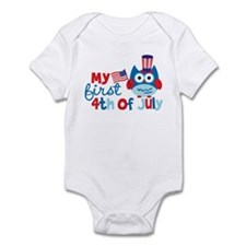 Owl My First 4th of July Onesie