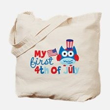 Owl My First 4th of July Tote Bag