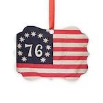 Flag of Bennington III.psd Picture Ornament