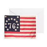 Flag of Bennington III.psd Greeting Cards (Pk of 2