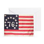 Flag of Bennington III.psd Greeting Cards (Pk of 1