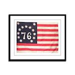 Flag of Bennington III.psd Framed Panel Print