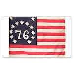 Flag of Bennington III.psd Sticker (Rectangle 50 p