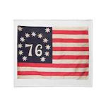 Flag of Bennington III.psd Throw Blanket