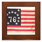 Flag of Bennington III.psd Framed Tile