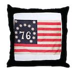 Flag of Bennington III.psd Throw Pillow