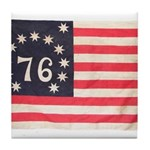 Flag of Bennington III.psd Tile Coaster