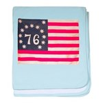 Flag of Bennington III.psd baby blanket
