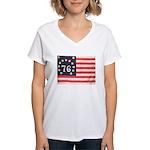 Flag of Bennington III.psd Women's V-Neck T-Shirt