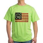 Flag of Bennington III.psd Green T-Shirt