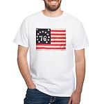 Flag of Bennington III.psd White T-Shirt