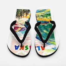 Alaska Travel Poster 2 Flip Flops