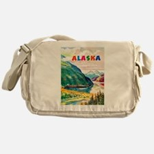 Alaska Travel Poster 2 Messenger Bag