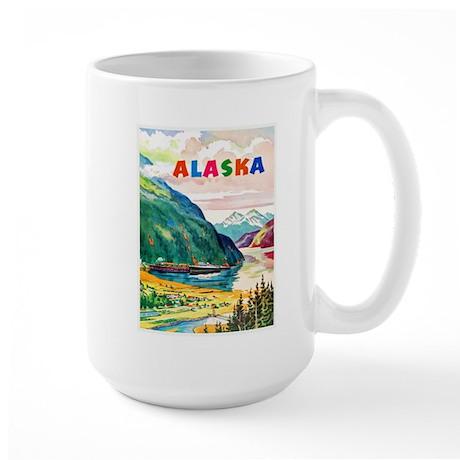 Alaska Travel Poster 2 Large Mug