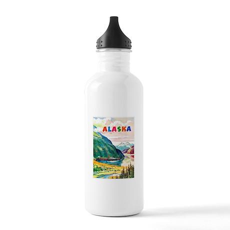 Alaska Travel Poster 2 Stainless Water Bottle 1.0L