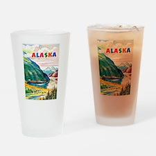 Alaska Travel Poster 2 Drinking Glass
