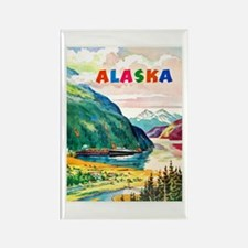 Alaska Travel Poster 2 Rectangle Magnet