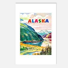 Alaska Travel Poster 2 Postcards (Package of 8)