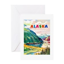 Alaska Travel Poster 2 Greeting Card