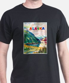 Alaska Travel Poster 2 T-Shirt