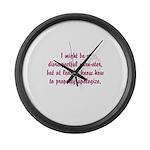 disrespectfulyarnster Large Wall Clock
