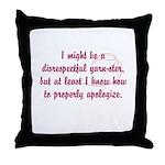 disrespectfulyarnster Throw Pillow