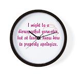 disrespectfulyarnster Wall Clock