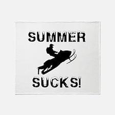 Summer Sucks Throw Blanket