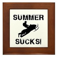 Summer Sucks Framed Tile