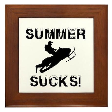 Summer Sucks Framed Tile